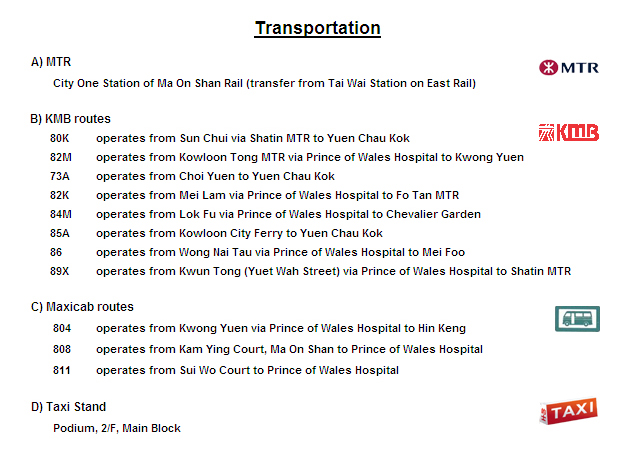 Transportation for Prince of Wales Hospital